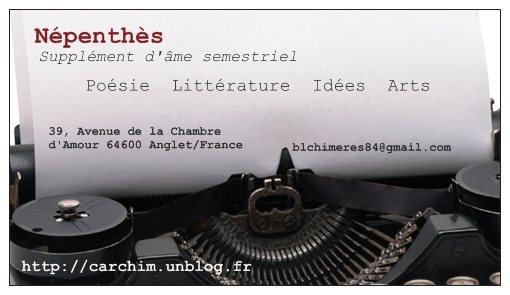 Népenthès ~ Revue d'Expression littéraire  dans Présentation lp-5